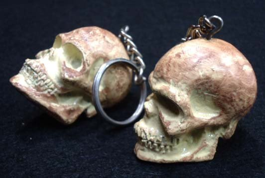 2 Skull Key Chains