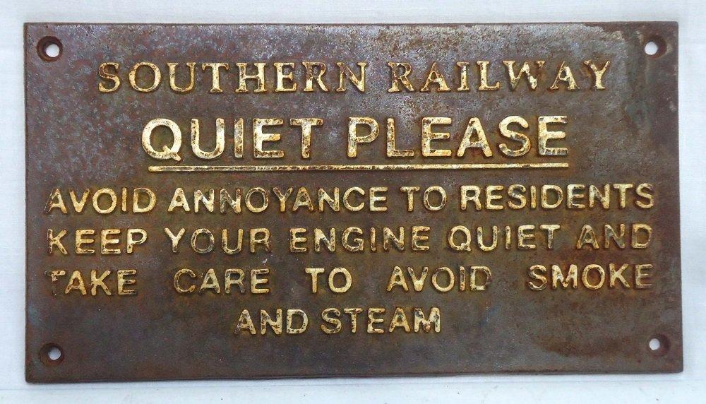 Modern C.I. Southern Railway Sign
