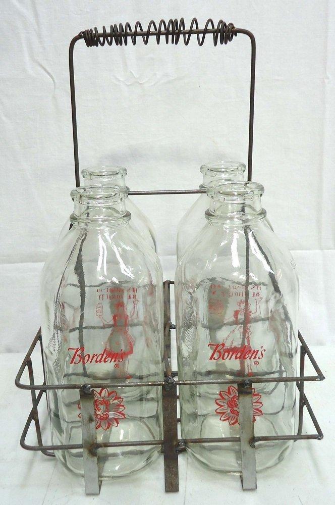 Half Gal. Milk Bottles & Carrier