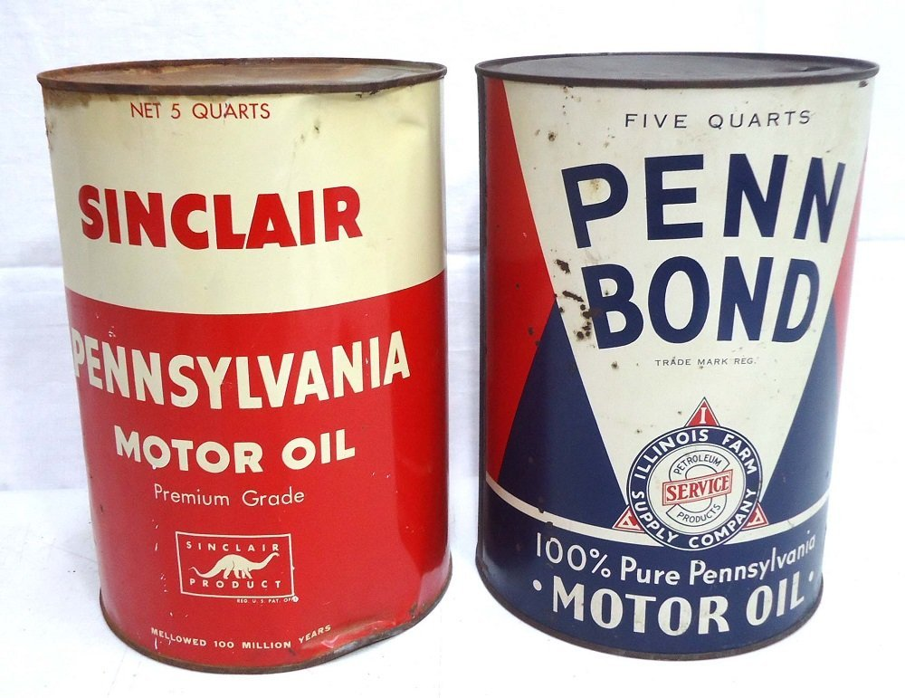Two 1 Gal. Oil Cans