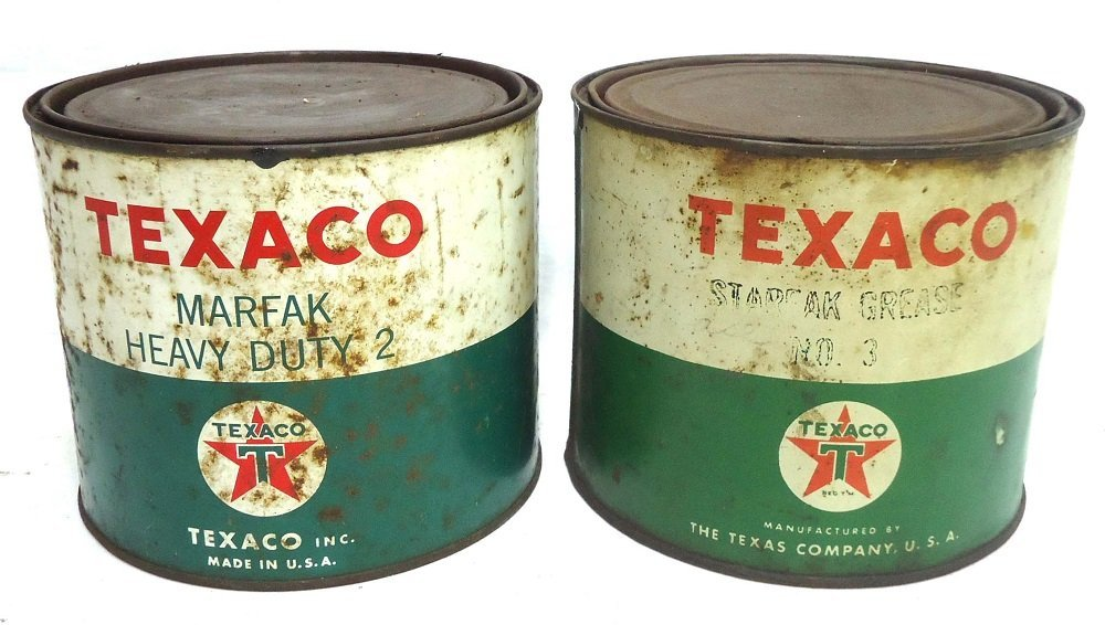 Two 5lb Texaco Grease Cans