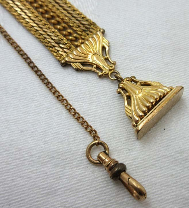 1903 Simmons Watch FOB & Chain - 3