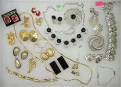 Huge Monet & Sarah Coventry Jewelry Coll. 28Pc.