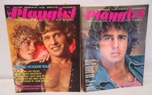 16 Playgirl Magazines 1974-75