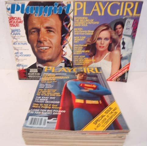 36 Playgirl Magazines 1977-79