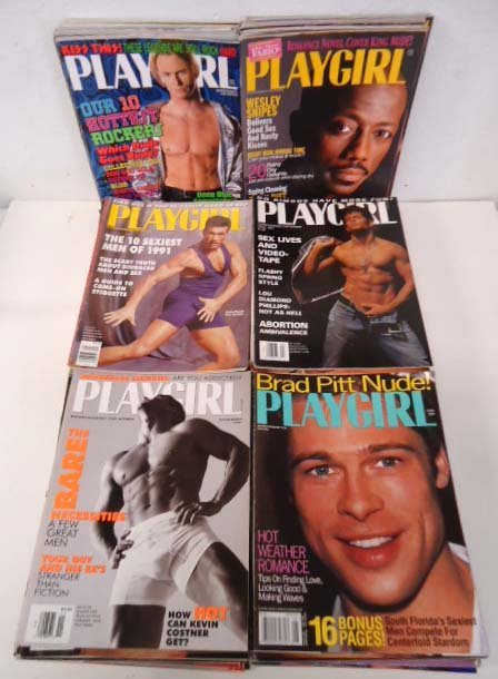 83 Playgirl Magazines 1990's
