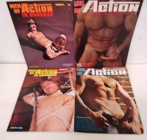 "4 ""Men of Action"" Magazines"