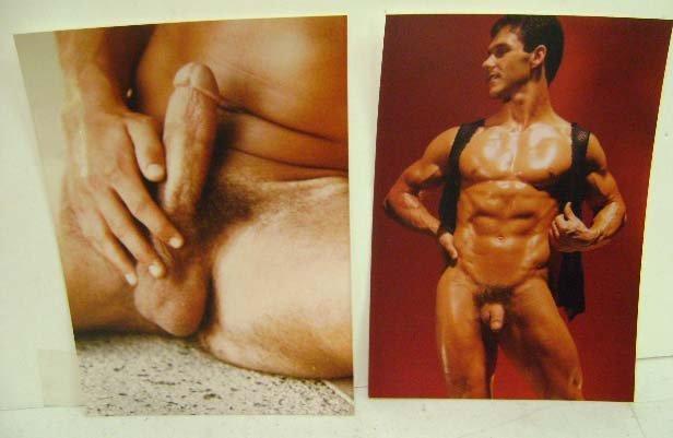 2 Erotic Silver Gelatin Male Nude Photos