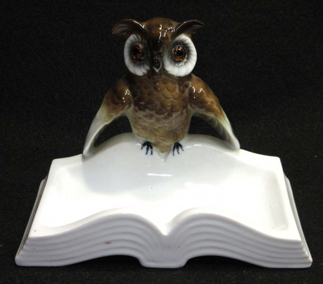 Germany Porcelain Owl Tray