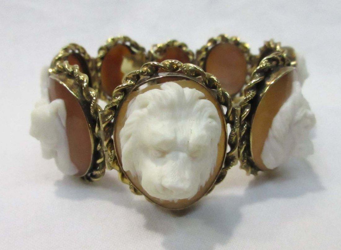 14k Yellow Gold Cameo Bracelet