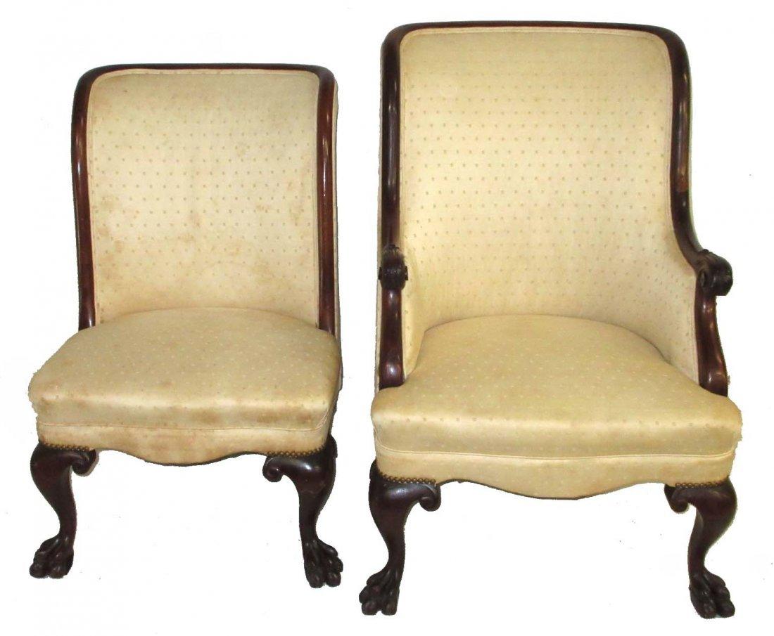 Pr. Claw Foot Chairs