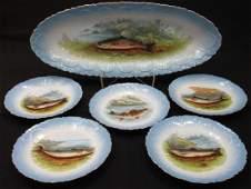 Limoges 6 Pc Fish Set