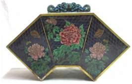 Oriental Plique a Jour & Cloisonné Lamp