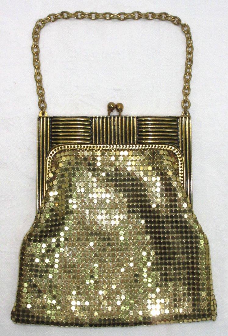 Whiting & Davis Gold Mesh Deco Style Purse