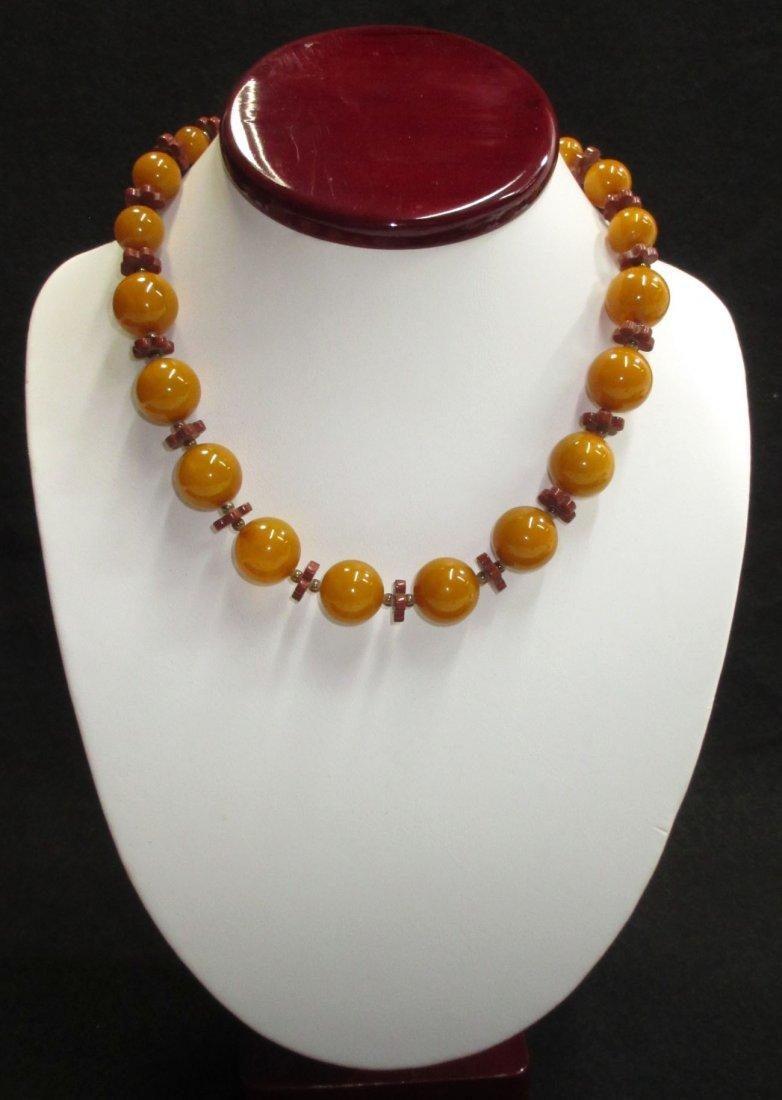 Butterscotch Catalin/Bakelite Necklace
