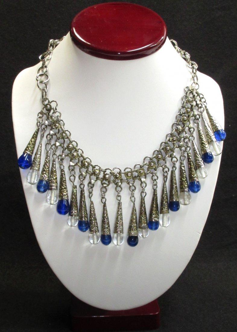Fantastic Egyptian Revival Bib Necklace