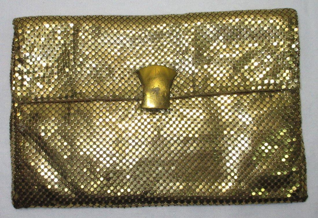 Whiting & Davis Gold Mesh Clutch Bag
