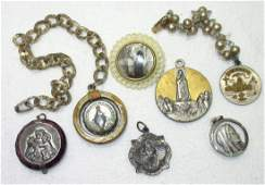 8 Unique Vtg. Religious Medals