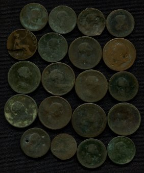20 Early English Pennies