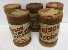 5 Edison Cylinder Records