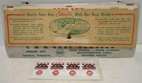 """1958 Gulf Viser Calendar """"calendar"""""""
