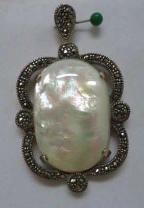 Sterling Opal Pendant