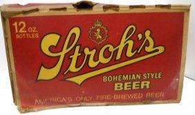 24 Bottle Strohs Beer Case W/bottles