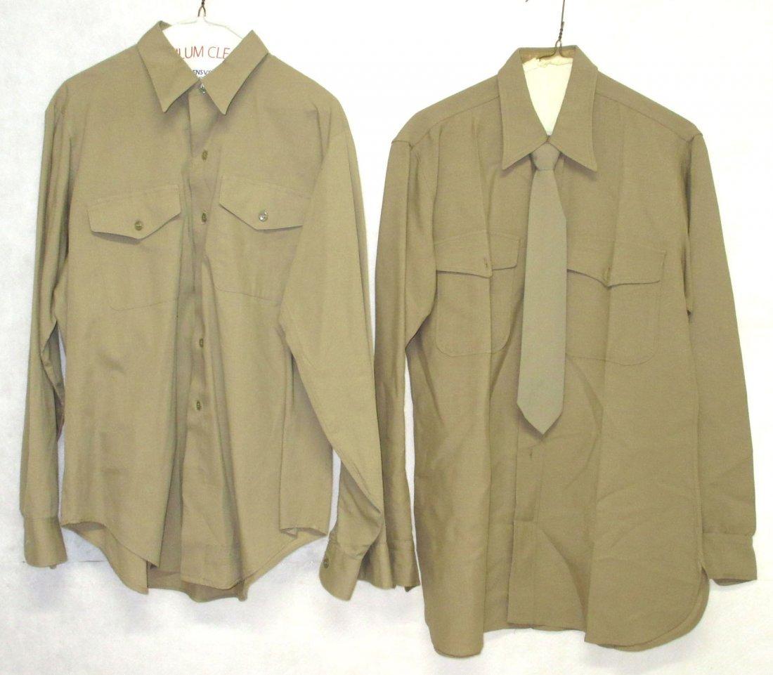 2 Kaki Dress Shirts