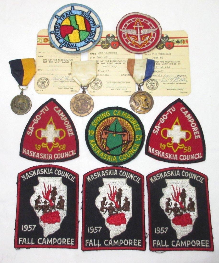 1957 & 58 Boy Scout Items