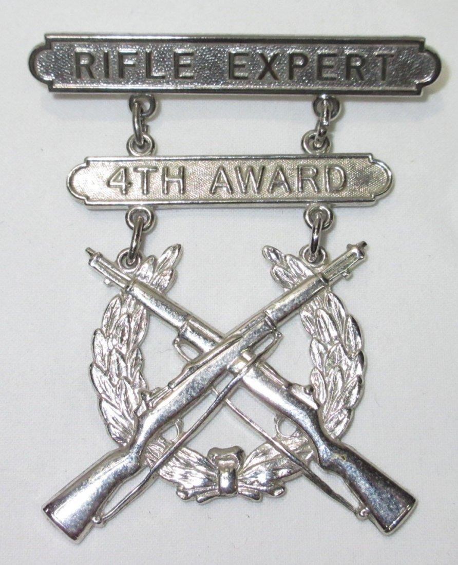 Rifle Expert 4th Award Medal