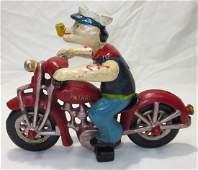 C.I. Modern Popeye on Motorcycle