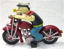 C.I. Popeye & Motorcycle Toy Modern