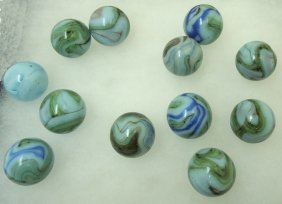 12- Swirl Marbles