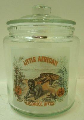 Little African Licorice Candy Jar Modern