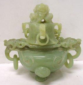 Carved Jade Urn