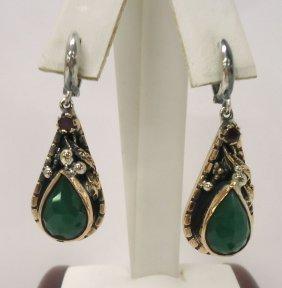 Sterling & Emerald Earrings