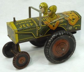 Marx Jump In Jeep Toy