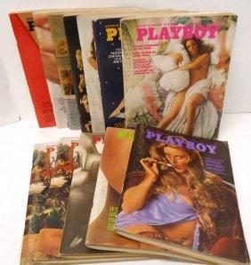 12 Playboy Magazines 1973