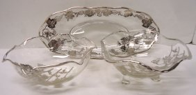 3pc Silver Overlay Glasses