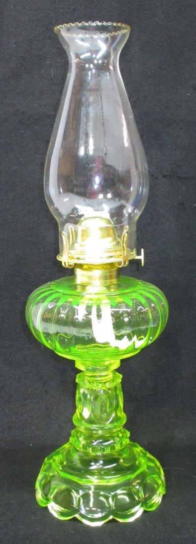Mosser Vaseline Glass Oil Lamp