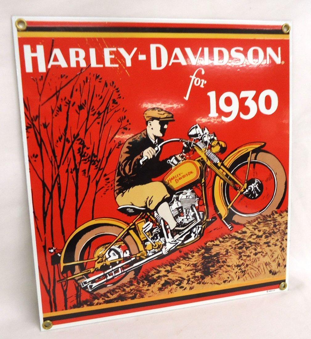 Modern Harley Davidson Porcelain Sign