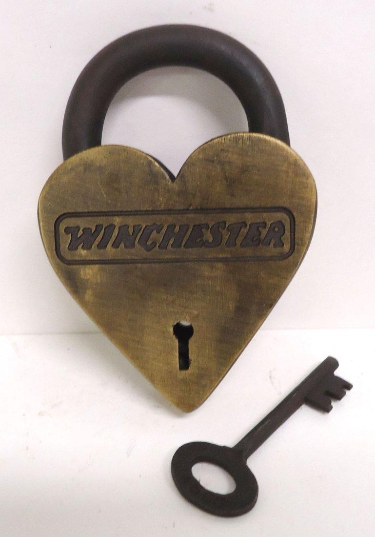 Modern Brass Winchester Heart Lock