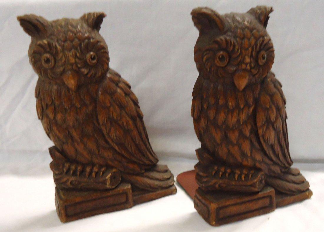 Pr. Vintage Owl Bookends