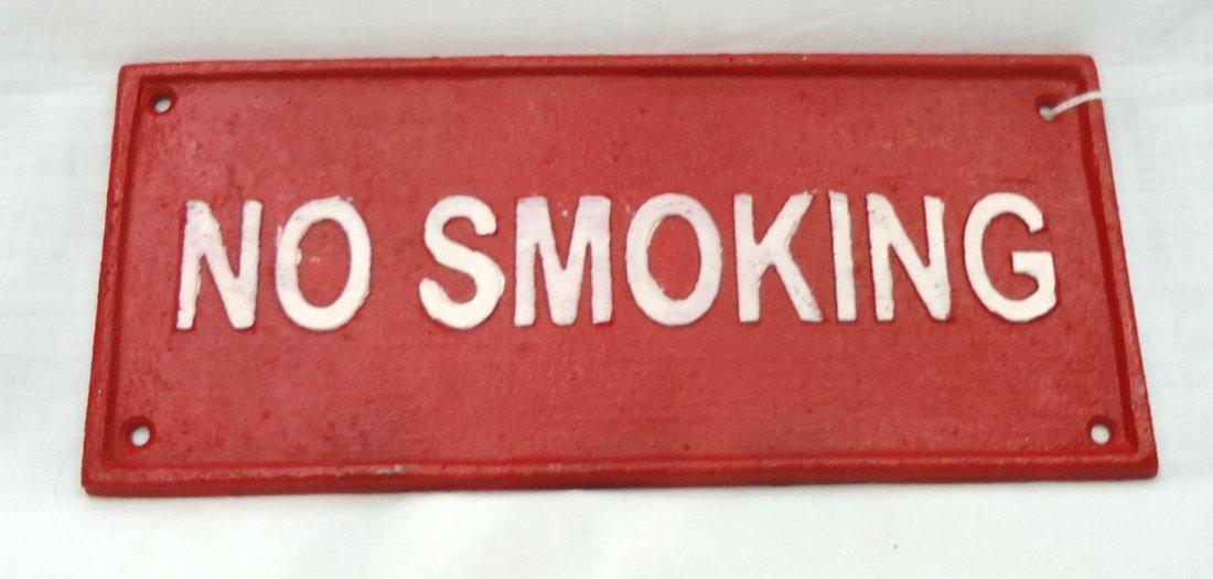 Modern C.I. No Smoking Sign