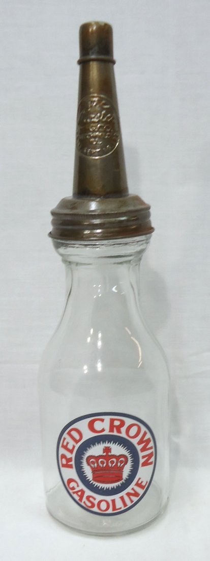 Modern Red Crown Motor Oil Bottle