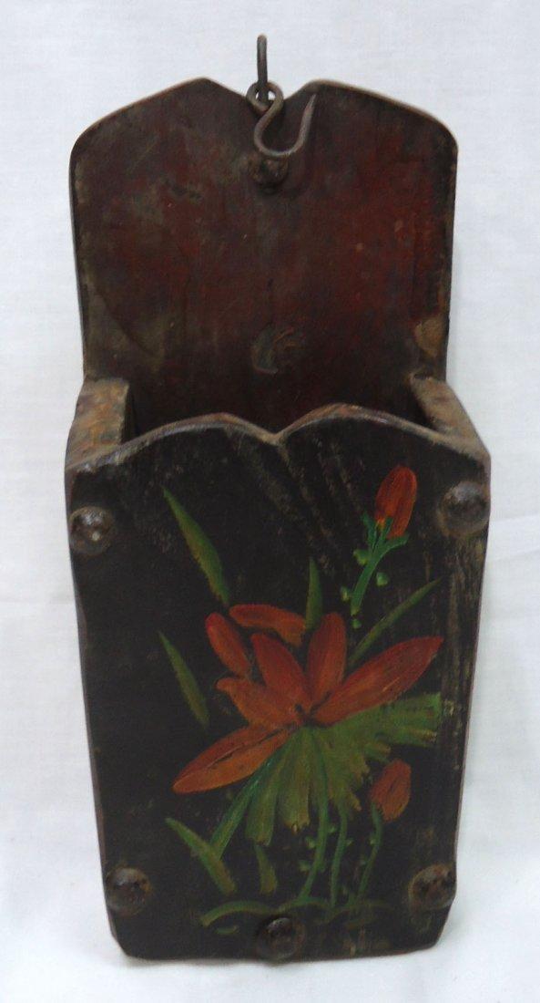 Antique Folk Art Wood Wall Box