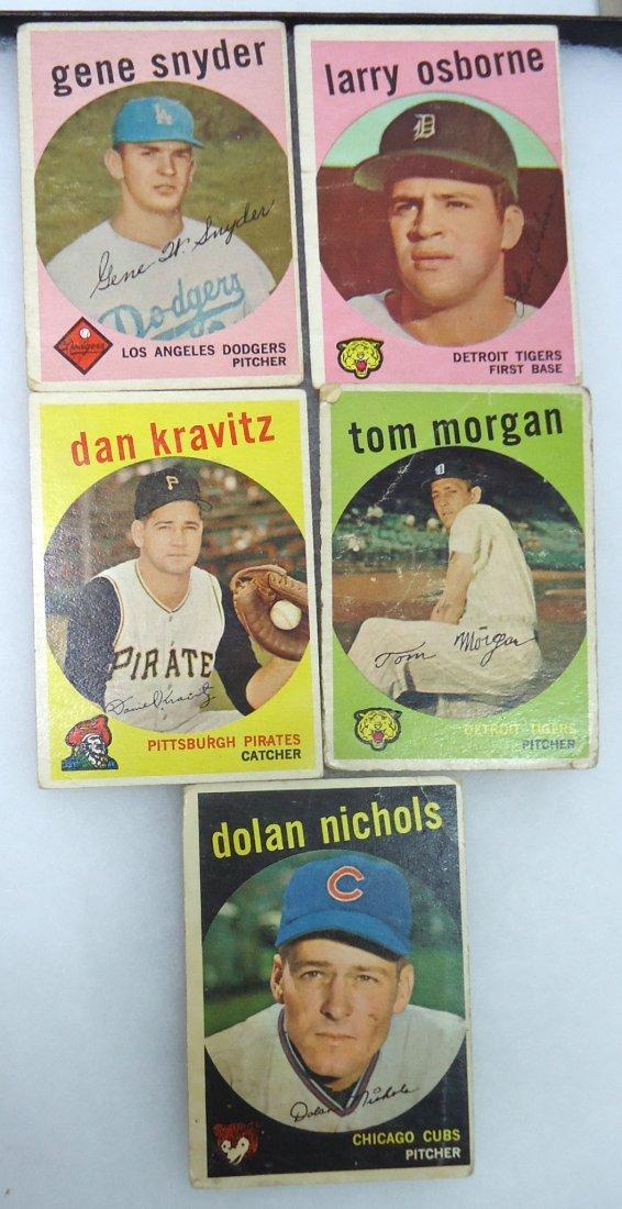 (5) 1959 Topps Baseball Cards