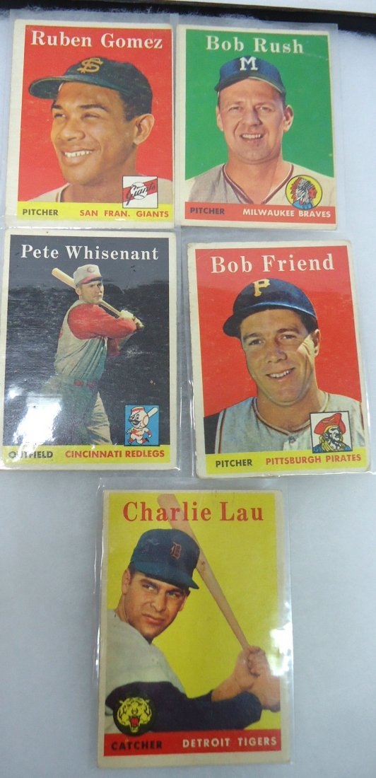 (5) 1958 Topps Baseball Cards