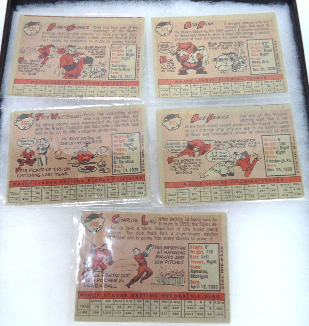 (5) 1958 Topps Baseball Cards - 2