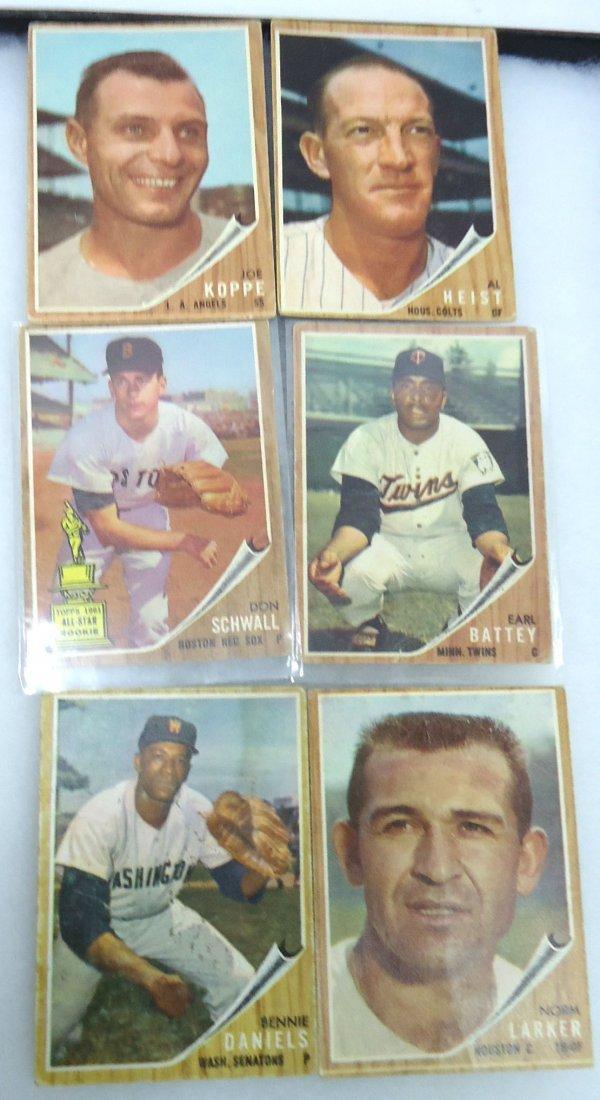 (6) 1962 Topps Baseball Cards